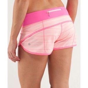 "Lululemon Speed Shorts Parfait Pink 2.5"""